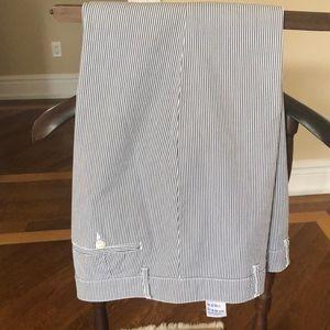 Striped cotton pants.